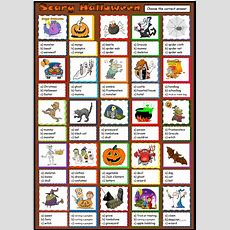 Scary Halloween Worksheet  Free Esl Printable Worksheets Made By Teachers