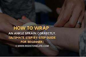 How To Wrap An Ankle Sprain  U2014  Step