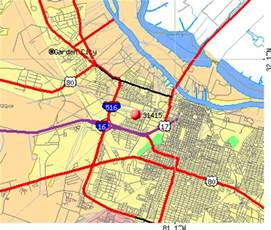 Savannah Georgia Zip Code Map