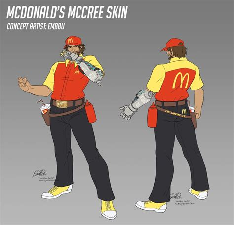 fantastic overwatch fast food skin concept puts mccree