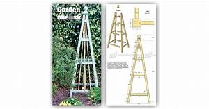 Garden Obelisk Plans • WoodArchivist
