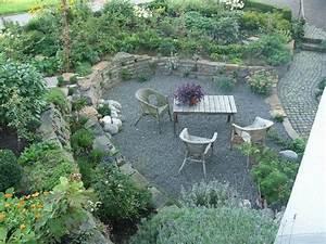 Senkgarten Mit Feuerstelle : sitzplatz mit kies senkgarten sunken garden pinterest sitzplatz kies und g rten ~ Buech-reservation.com Haus und Dekorationen