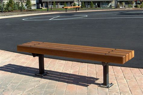 series d benches custom park leisure