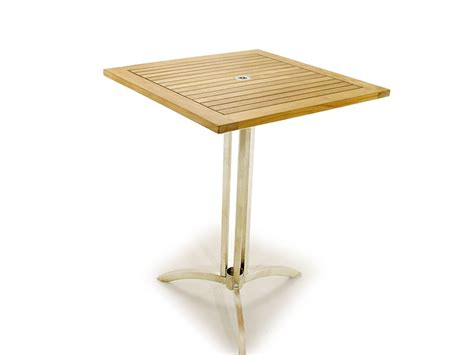 vogue 30 inch square bar table westminster teak outdoor