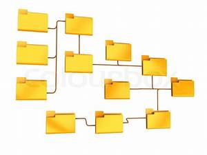 3d Illustration Of Folders Structure