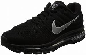 Nike Mens Air Max 2017 Running Shoes Black/White