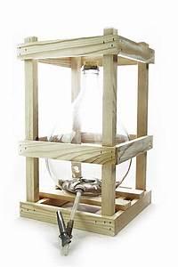 Bonbonne En Verre : bonbonne en verre 10 l dans un support en bois avec accessoires ~ Teatrodelosmanantiales.com Idées de Décoration