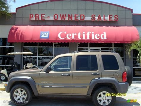 brown jeep liberty 2002 woodland brown satin glow jeep liberty sport