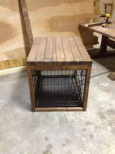 dog crate table wwwucaquaticscom With table over dog crate