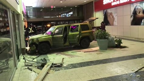 Almost Daily Blogs #33 A Car Crashes Into Woodside Mall