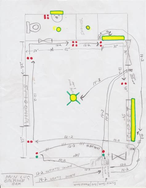 electrical need wiring diagram to help rewiring a bedroom and bathroom to prepare for smart