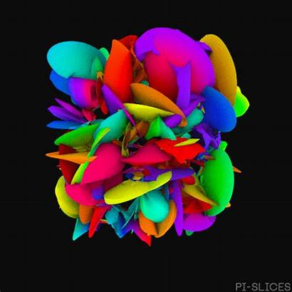 Pi Gifs Slices Trippy Animated Rainbow Abstract