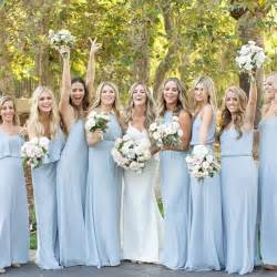 bridesmaid gowns best 25 light blue bridesmaids ideas on light blue bridesmaid dresses blue