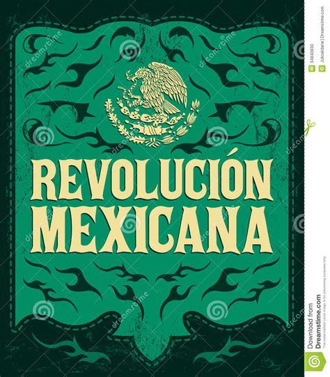 revolucion mexicana mexican revolution spanish stock