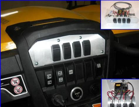 emp command centre with fuse block and switches can am maverick commander utv canada