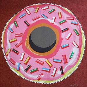 Grande Serviette De Plage Ronde : 150 cm microfibre serviette de plage ronde rose donut grande serviette de plage gland de douche ~ Teatrodelosmanantiales.com Idées de Décoration