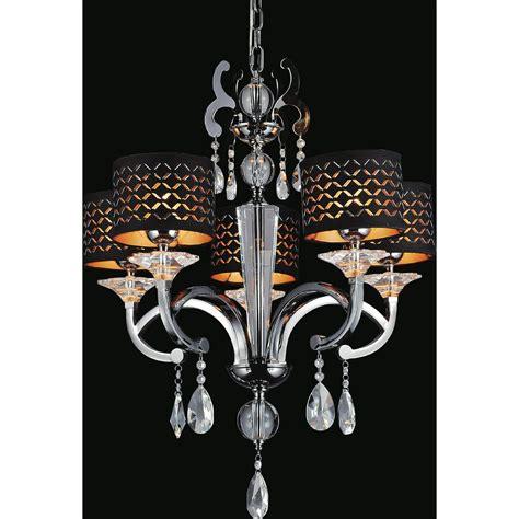 black shaded chandelier kenroy home arne 5 light black chandelier with black shade