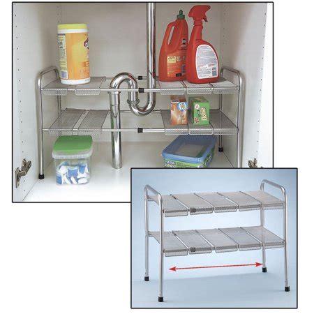walmart shelf organizer 2 tier expandable adjustable sink shelf storage