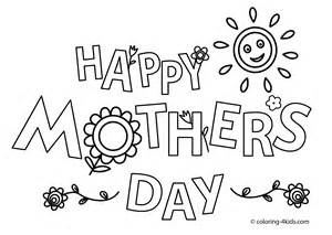 Happy Mother's day coloring pages for kids, printable free ...