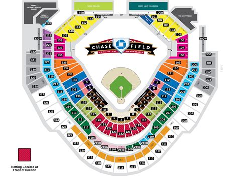 chase field seating map mlbcom