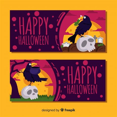 The best selection of royalty free halloween banner vector art, graphics and stock illustrations. Happy halloween banners Vector | Free Download