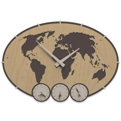 pendule de cuisine horloge murale fuseau horaire greenwich