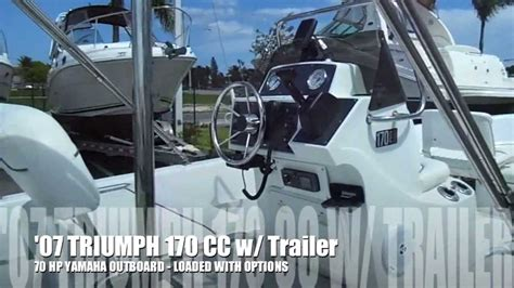 Triumph Boats Youtube by 2007 Triumph 170 Cc For Sale By Boats International Youtube