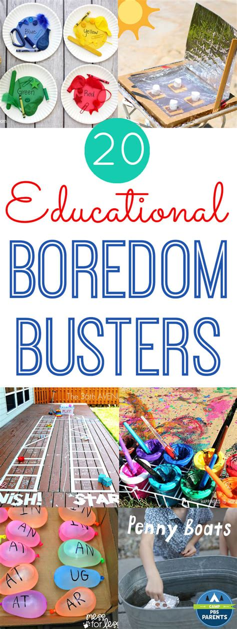 20 Educational Summer Boredom Busters Happiness is Homemade