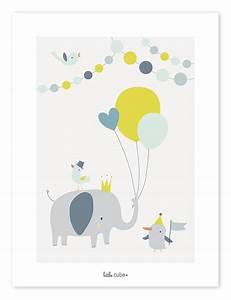 Bilder Für Kinderzimmer : lilipinso kinderzimmer poster 39 tierparty 39 grau mint gelb 30x40cm bei fantasyroom online kaufen ~ Markanthonyermac.com Haus und Dekorationen