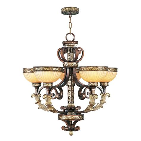 titan lighting lilliana 5 light seafoam and aged silver