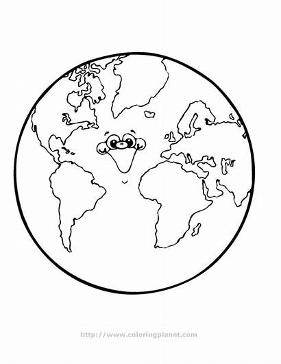 Earth Coloring Planet Pages Save Printable Globe