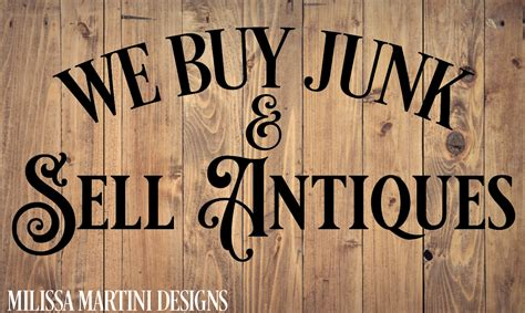sell antiques we buy junk sell antiques graphic by milissa martini creative fabrica