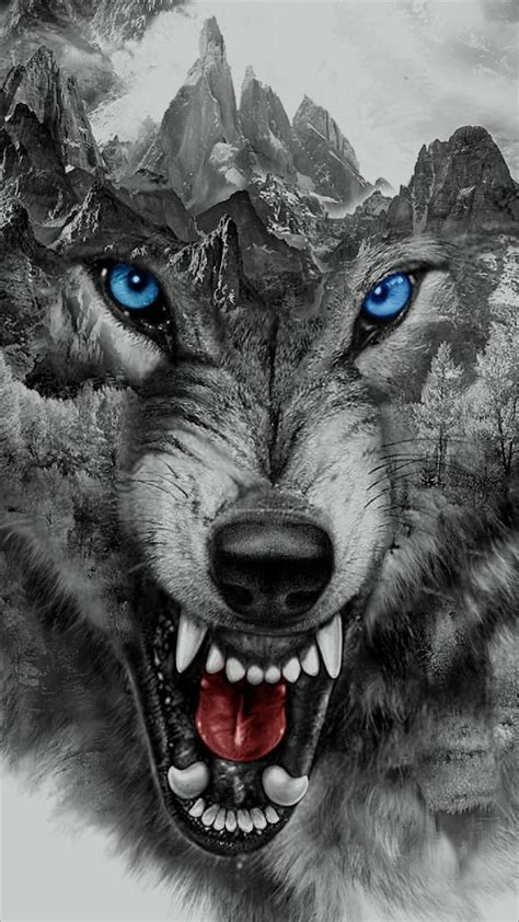 angry wolf wallpaper  georgekev  browse