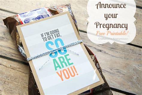 craftaholics anonymous  printable  announce pregnancy