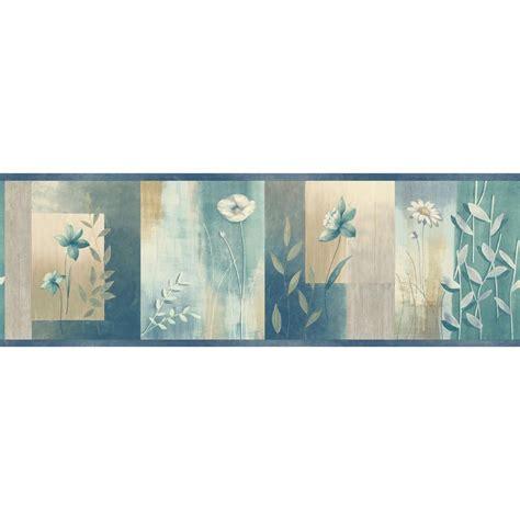 chesapeake bonnard turquoise colorblock floral wallpaper