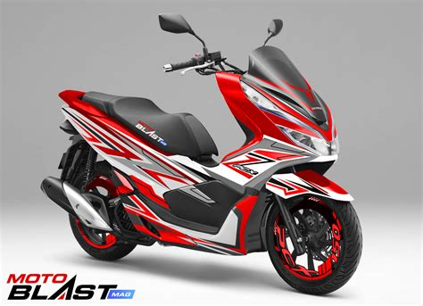 decal stiker honda pcx  red shadow motoblastid