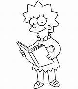 Lisa Coloring Simpsons Reading Simpson Sun Colorings Printable Getcolorings Getdrawings Button Through Paper sketch template
