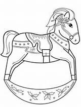Horse Rocking Coloring Printable Drawing Cartoon Supercoloring Animals Categories Horses Getdrawings sketch template