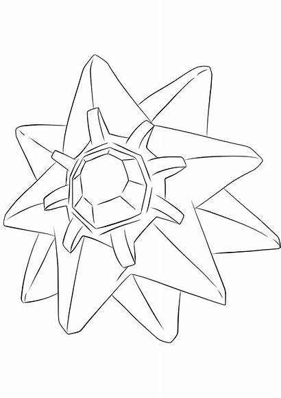 Pokemon Starmie Coloring Generation Pages Water Type