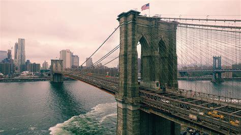 incredible aerial photograph   brooklyn bridge