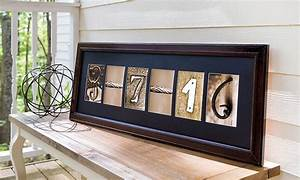 Custom framed letter art groupon goods for Custom letter art groupon