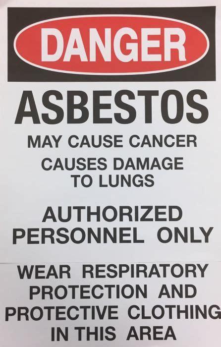 osha asbestos danger warning sign english paper