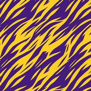 Purple and Gold Tiger Stripes LSU Louisiana Printed Craft ...