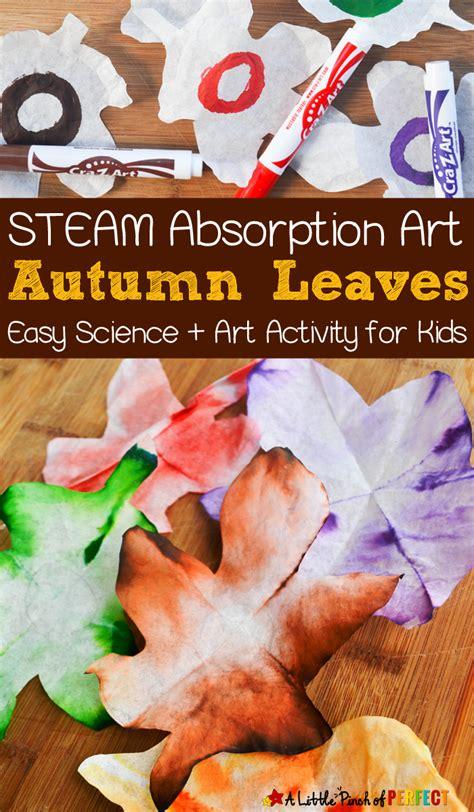 autumn leaves steam absorption art  kids  enjoy