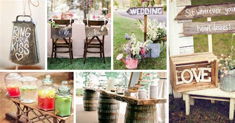 country chic wedding decor diy decoratingspecial