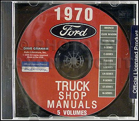 ford truck shop manual set  cd