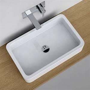 lavabo salle de bain design 8 vasque 224 poser With vasque de salle de bain rectangulaire