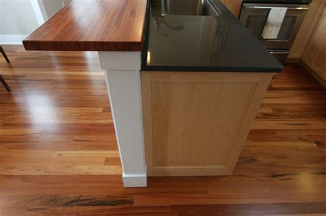walnut kitchen island details of home kitchen bar top