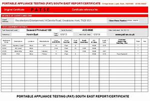 pat testing certificate template images template design With pat testing template free