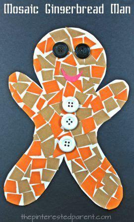 construction paper mosaic gingerbread winter and 782   8dc2d001bac9bd9a54e0d235c250b717